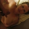Mature wife doesn't like the cum facial she gets!