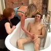 Aunts caught boy jerking in his tub