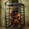 Male slave is treated like trash by strict dominas