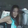 Sexy japanese teen teasing a taxi driver