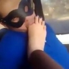 Arab Foot Worship By The BF In The Car