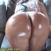 Oiled up big booty hoe dines on a dick