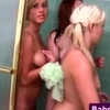 Real teen lesbos shower together
