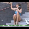 Malena lovely petite brunette with natural tits masturbating and walking naked outdoors and trying o