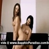 Superb brunette lesbos lciking pussy and doing 69 and having lesbo sex
