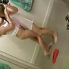 2 girls in changing room.