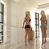 2 Hot Blonde Girls Sharing Thick Cock