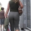 Amazing mature's ass walking