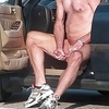 Caught an exhibitionist jacking off in public with cum.