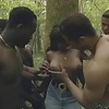 ebony whore gangbanged in woods