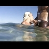 Handjob underwater and on beach by troc