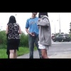 Indecent preggo in a public threesome