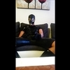 Latex  rubber  jerking and cumming