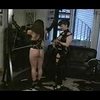 Lesbian babe bound and flogged