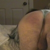 Mature cd getting a self induced spanking!