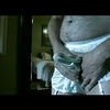 My panty boy explodes in giant nylon briefs - part 2