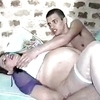 One pregnant woman with two friends