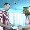 Pizzaboy gets lucky with a blonde & a redhead