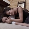 Rough lesbian play with two horny girls