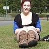 Roundabout toying of public amateur exhibitionist Isabel D