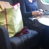 Stockings in train