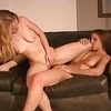Tall girl next door is picked up by short blonde cutie