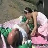 Amai Liu - Asian Teen and Grandpa Taking It Outdoors