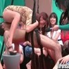 Babes Sucking Dick on Sex Swing in Public ...