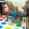 British lesbians play twister and piss on ...