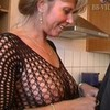 Hot german mom in fishnets makes him cum  ...