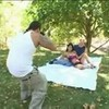 Outdoor Threesome With An Asian Slut - Slanted Holes
