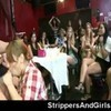 Two naughty girls try to milk a male stripper to taste his c