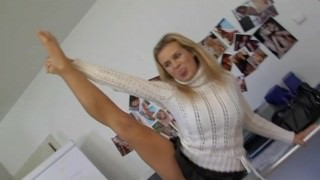 Flexible Blonde fucked in the ass