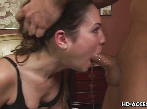 Extreme Deep Throat Blowjob From Hot Babe