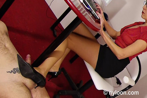 Shoejob with christian louboutin high heels cum on shoes - 3 part 10