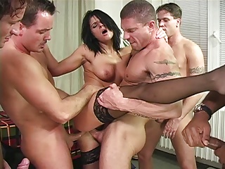 awesome hard gangbang with nasty whore