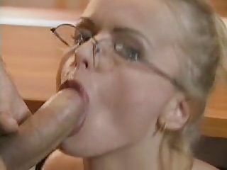Blonde european bride gets licked and ass fucked