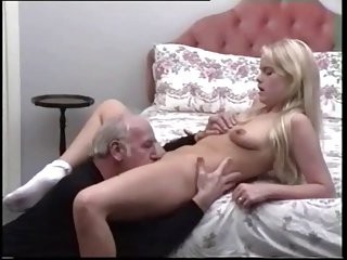 Blonde girl with old man by troc