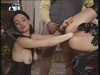 Excess in gold pt2. latex fisting and fucking.