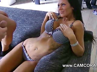 German Amateur with Big Tits and Tattoos Lea4you get fucked