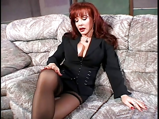 Hot redhead milf with big boobs