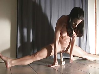 Playing with the dildo