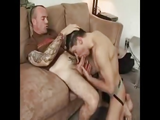 Suck and ride bare your tattoo'd daddy boy