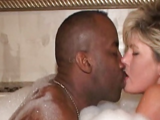 black wife hot tub