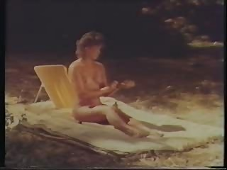 Woman dreams of camping - (great vintage lesbian scene)