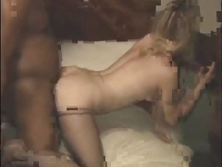 Young blonde used by 2 black men