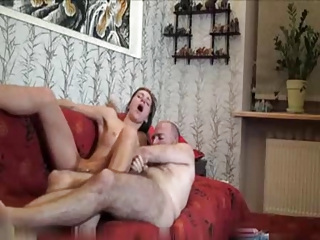 Young girl gets a hard anal lession
