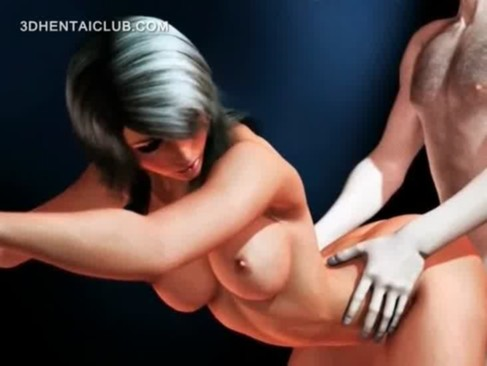 Blonde big titted hentai babe gets fucked