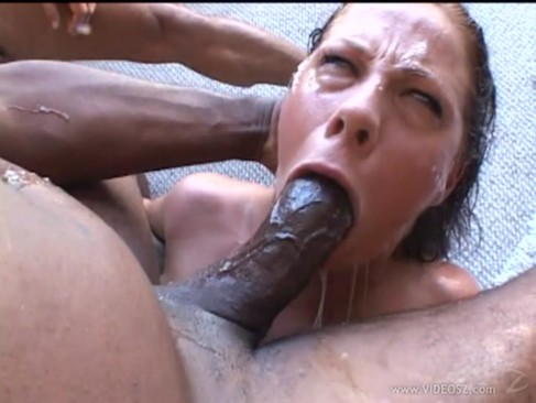 Deep throat forced sucking