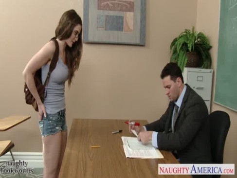 Sexy coed in glasses Molly Jane fuck in c ...